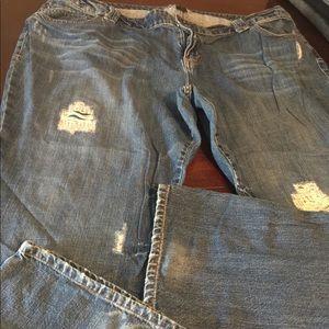 Lane Bryant size 28  Average jeans distress marks